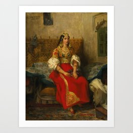 """Eugène Delacroix """"Juive de Tanger en costume d'apparat"""" Art Print"""