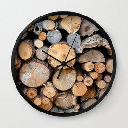 Perfect Woodpile Wall Clock