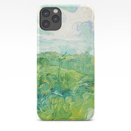 Green Wheat Fields - Auvers, by Vincent van Gogh iPhone Case
