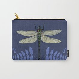 Dragonfly and Ferns Carry-All Pouch