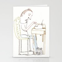 write Stationery Cards featuring Write, Right? by Joseph Nathan