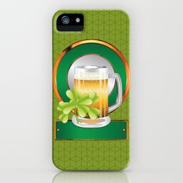 Beer and clover iPhone Case