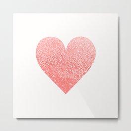 CORAL HEART Metal Print