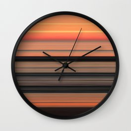 Sunset at Praia da Arrifana Wall Clock