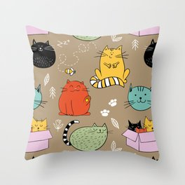 Lovely Cat Throw Pillow