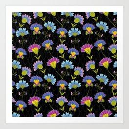 Decorative Floral Pattern Art Print