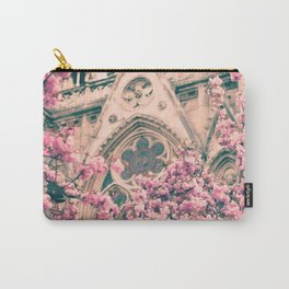 Paris, Notre dame details and cherry blossoms Carry-All Pouch