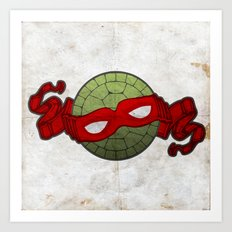 the red turtle Art Print