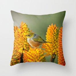 Silvereye Laze Throw Pillow