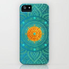 """""""Turquoise and Gold Mandala"""" iPhone Case"""