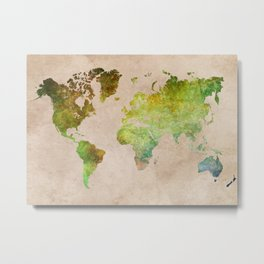 Green World Metal Print