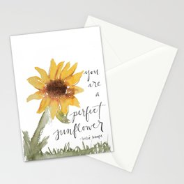 you perfect sunflower Stationery Cards