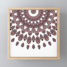 3D ethno kaleidoscope Framed Mini Art Print
