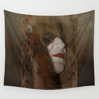 mask Wall Tapestries featuring Mask by Judith Lee Folde Photography & Art