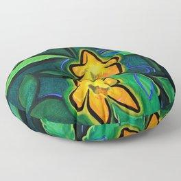 Orange Jewelweed 2.0 Floor Pillow