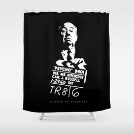 Alfred Hitchcock Master of Suspense Movie Psycho Shower Curtain