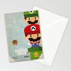 mario bros 2 fan art Stationery Cards