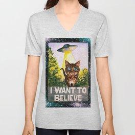 I Want To Believe Unisex V-Neck