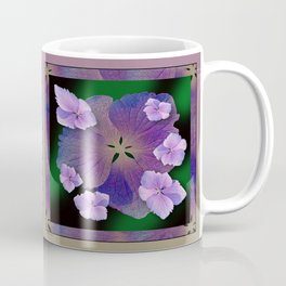 LACECAP HYDRANGEA FLOWER BOUQUET  Coffee Mug
