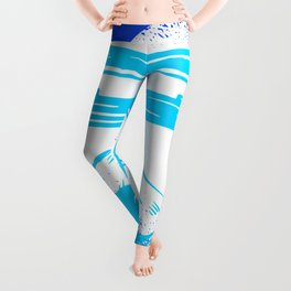 Happy Fuji - Bright Blue Color Leggings