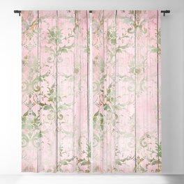 Beatiful Shabby Wood Design Blackout Curtain