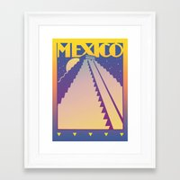 mexico Framed Art Prints featuring Mexico by David Chestnutt