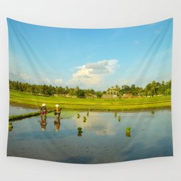 Rice fields forever by #Bizzartino Wall Tapestry