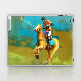 poloplayer abstract turquoise ochre Laptop & iPad Skin