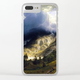 A Storm In The Rocky Mountains Clear iPhone Case