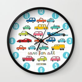 Cars for all Wall Clock