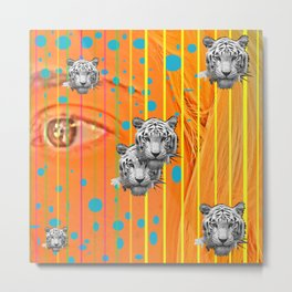 Trip Tiger Metal Print