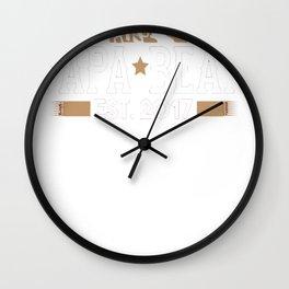 Papa Bear Est_ 2017 Wall Clock
