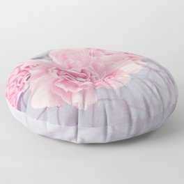 Pale Pink Carnations Floor Pillow