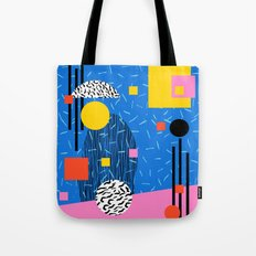 Crunk - 80s retro throwback minimal abstract painting memphis style trendy vibes all day Tote Bag