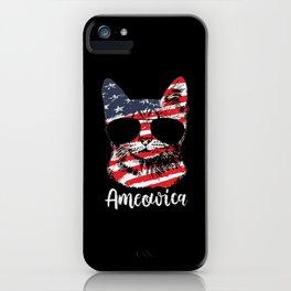 Cute Cat America Usa Flag 4 Th July iPhone Case