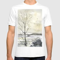 Winter Sky Mens Fitted Tee White MEDIUM