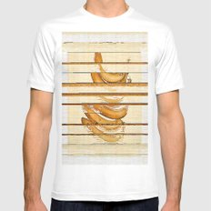 bananasort Mens Fitted Tee White MEDIUM