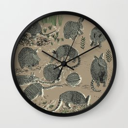 Little Armored Ones / Armadillos Wall Clock