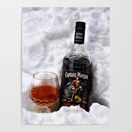 Ice Cold Captain Morgan Rum Poster
