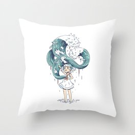 Daughter of the Sea Throw Pillow