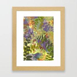 Green Butterfly Jungle Framed Art Print