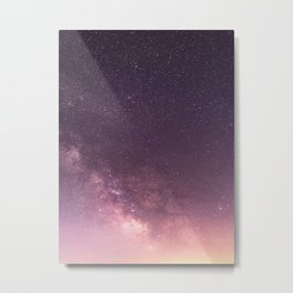 Pink Purple Magenta Milky Way Galaxy Night Sky Stars Metal Print
