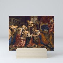 "Tintoretto (Jacopo Robusti) ""Birth of St John the Baptist"" Mini Art Print"