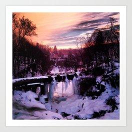 Wappingers Falls Sunset Art Print