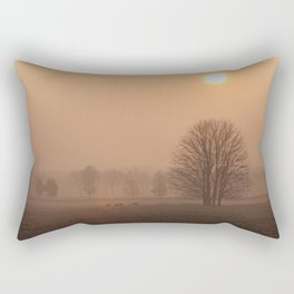 Early morning in a clearing Rectangular Pillow