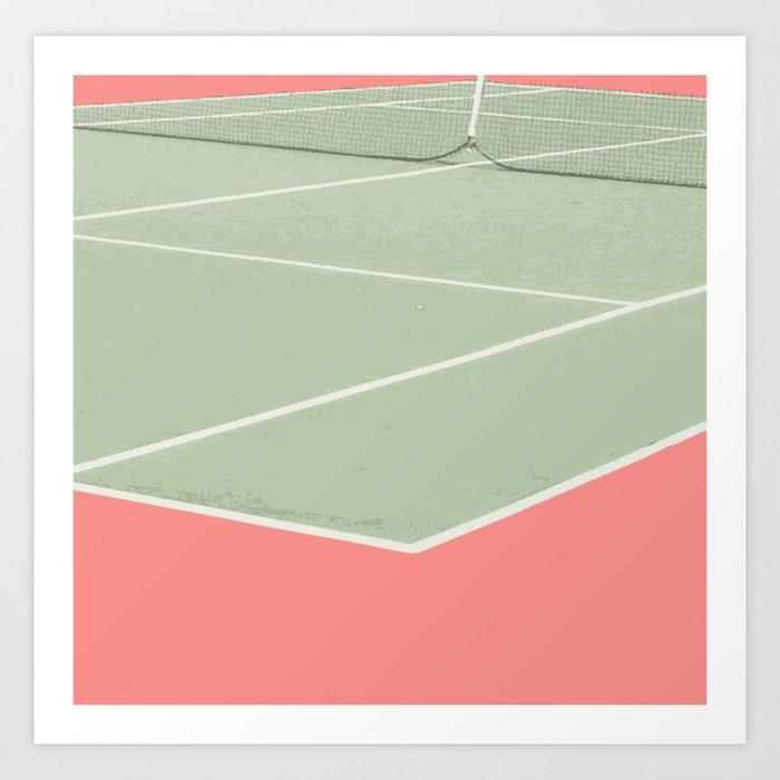 Tennis game Art Print