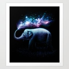 Elephant Splash Art Print