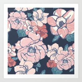 Brooklyn Botanic Garden Blush Art Print