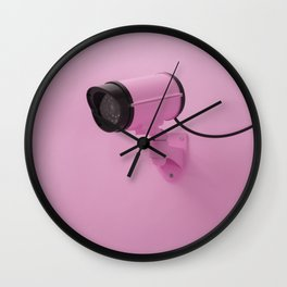 Pink brother is watching Wall Clock
