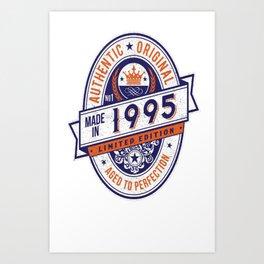 Made-In-1995-Birthday-T-Shirt-22nd-Birthday-Gift-Idea Art Print